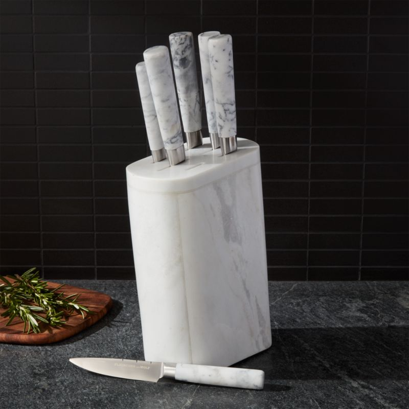 Fleischer and Wolf Marble 7Piece Knife Block Set