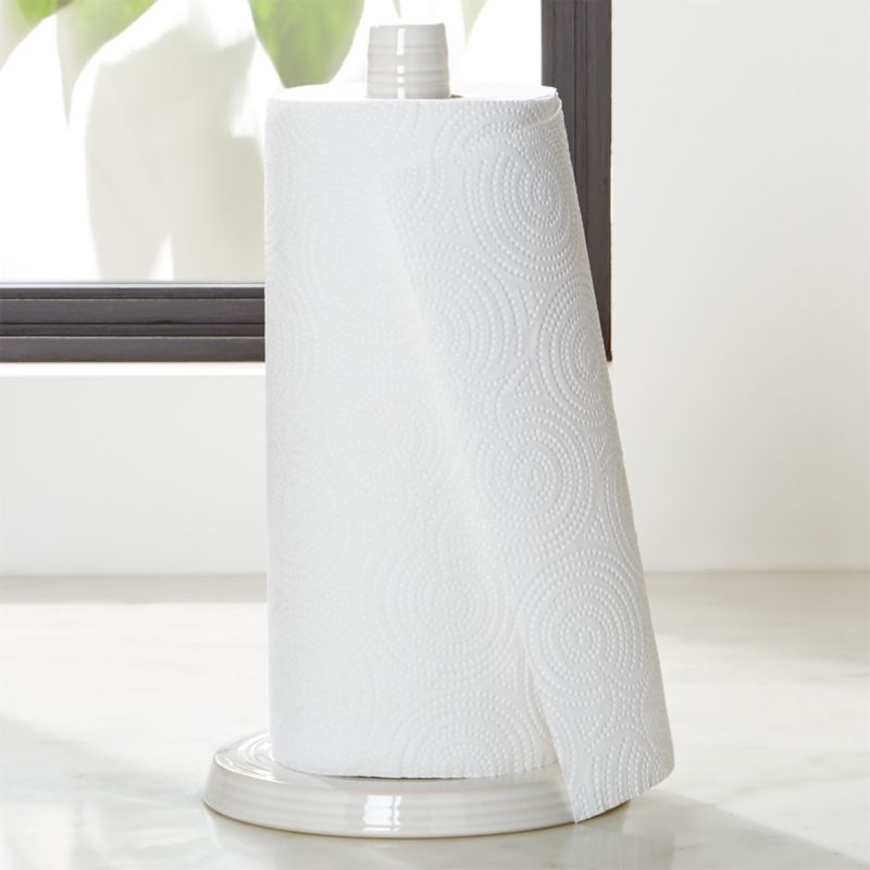 Farmhouse White Paper Towel Holder  Reviews  Crate and Barrel