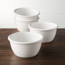 Farmhouse White Cereal Bowls Set Of 4 Crate