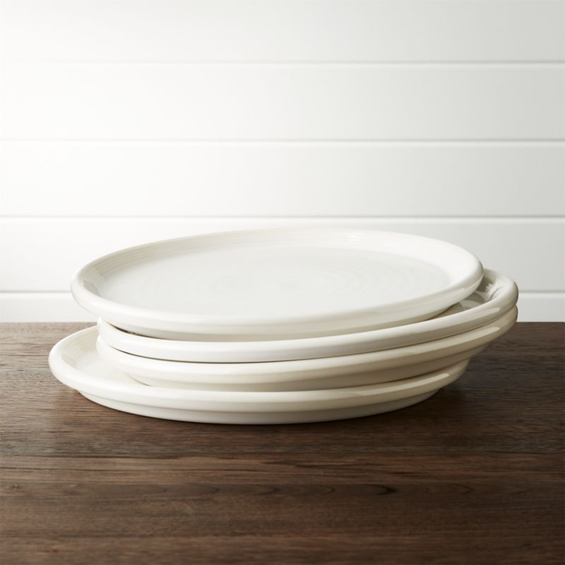 Set Of 4 Farmhouse White Dinner Plate Reviews Crate