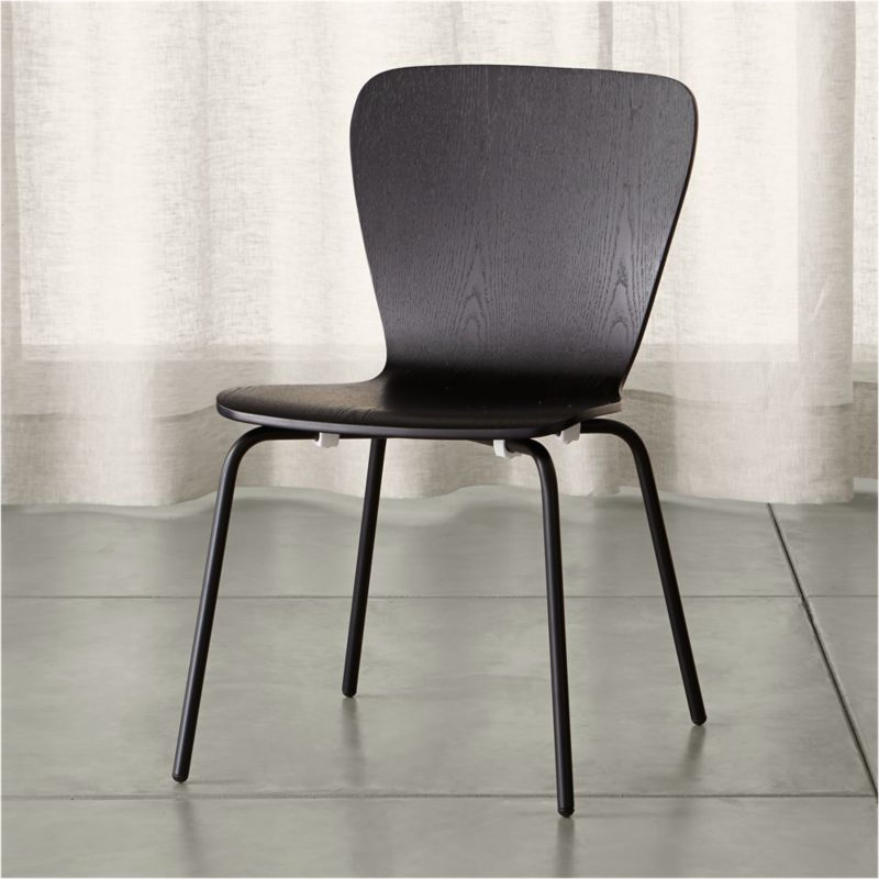 modern gray dining chairs folding chair song felix black reviews crate and barrel