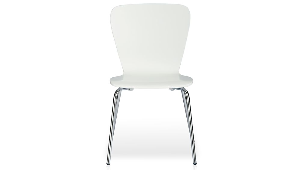 white plastic dining chairs desk chair combo felix reviews crate and barrel