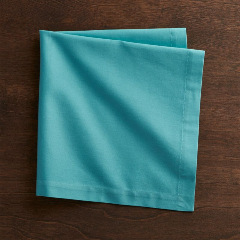 Fete Aqua Blue Cloth Napkin  Reviews  Crate and Barrel