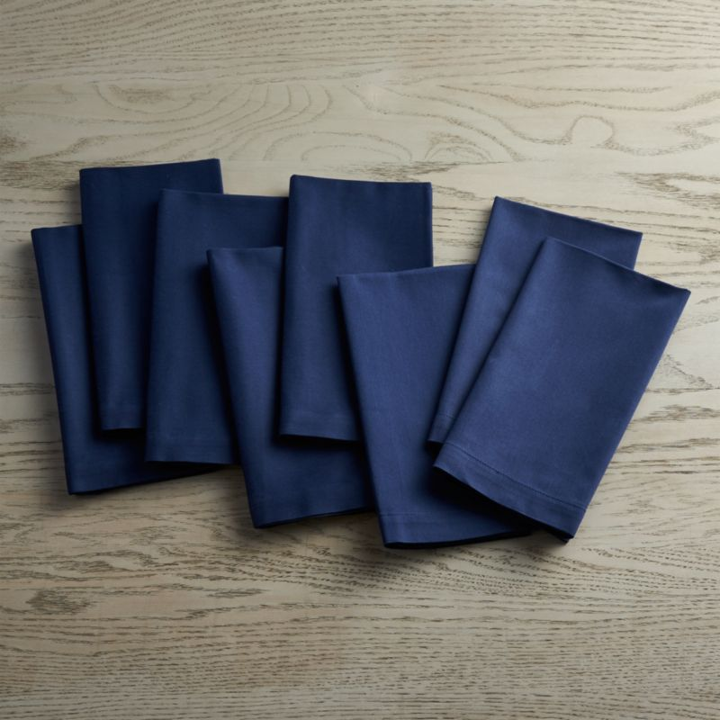 Fete Navy Blue Cloth Napkins Set Of 8 Reviews Crate