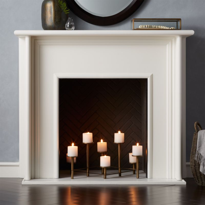 Brass Fireplace Candelabra  Reviews  Crate and Barrel