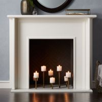 Brass Fireplace Candelabra + Reviews   Crate and Barrel