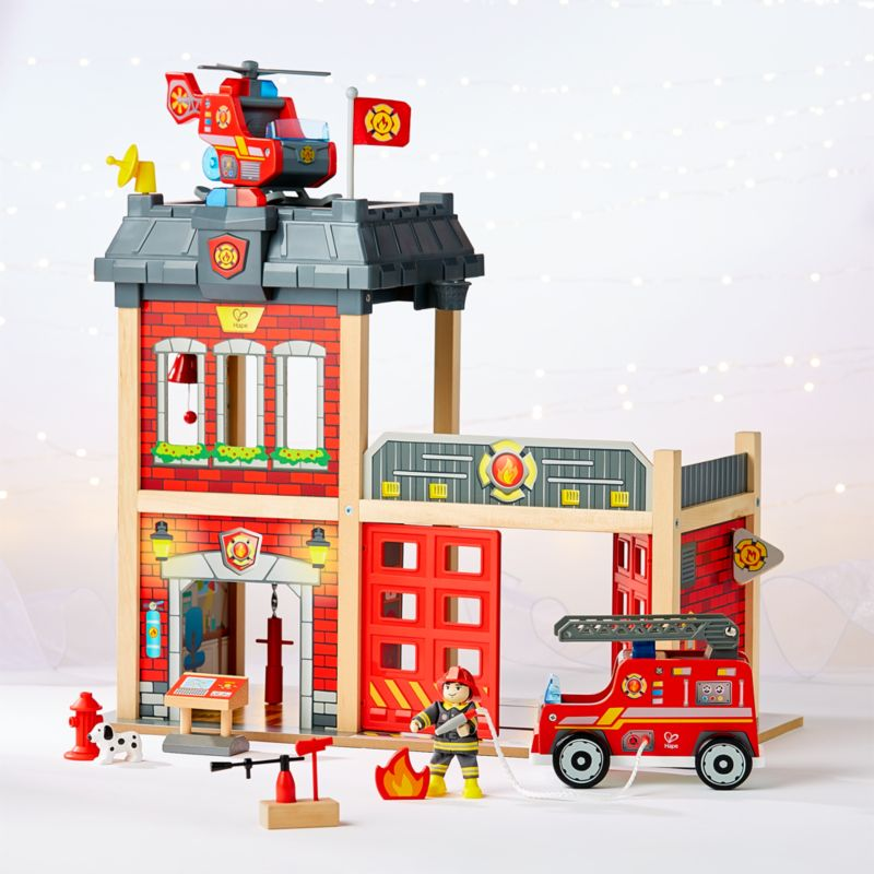 Hape Firehouse Play Set Reviews Crate And Barrel