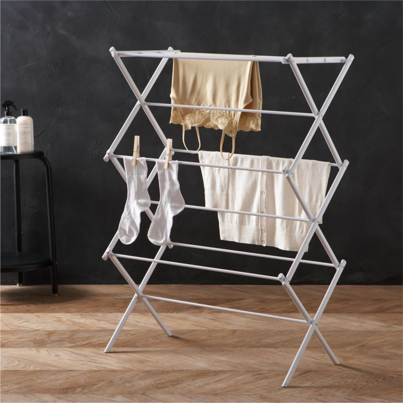 cushions for metal folding chairs active sitting ball chair large drying rack + reviews | crate and barrel