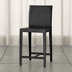 Stool Under Chair White Directors Chairs Australia Counter Height Crate And Barrel Folio Viola Black Top Grain Leather