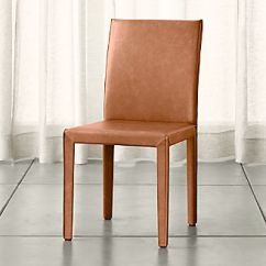 Chair Covers Kansas City Deck Book Stand Shop Dining Chairs Kitchen Crate And Barrel Folio Whiskey Brown Top Grain Leather