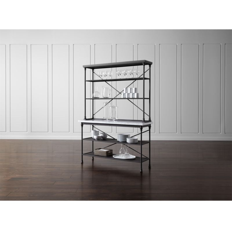 kitchen bakers rack designs ideas french with hutch reviews crate and barrel