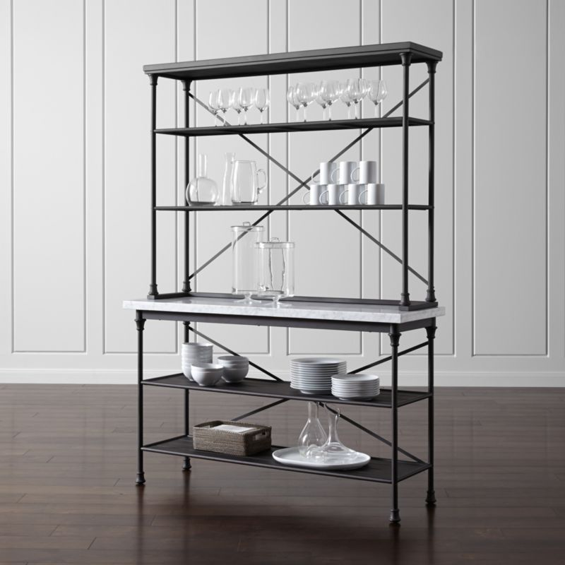 French Kitchen Bakers Rack with Hutch  Reviews  Crate and Barrel