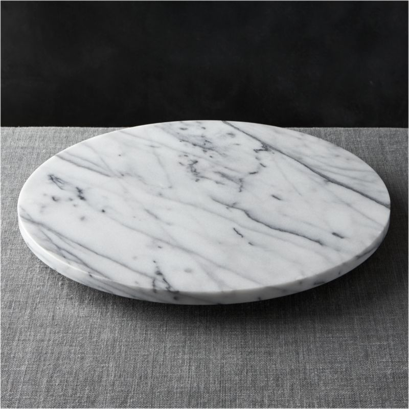 French Kitchen Marble Lazy Susan Reviews Crate and Barrel