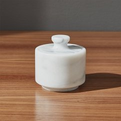 Marble Top Kitchen Cart Corner Cabinet For French Salt Cellar With Lid   Crate And Barrel