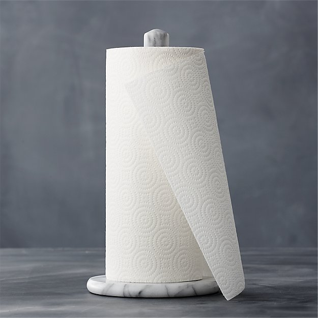 kitchen paper towel holder overstock cabinets french marble reviews crate and barrel