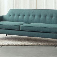 Tufted Button Sofa Loveseat Cover Gia Modern Blue Reviews Crate And Barrel