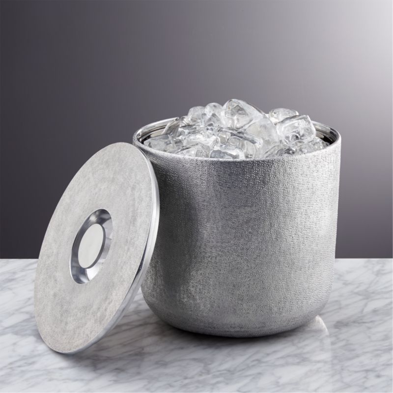 kitchen tables & more standard sink size glaze ice bucket + reviews | crate and barrel