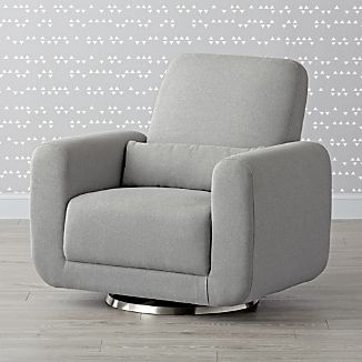 chair and a half glider recliner for toddler gliders crate barrel babyletto tuba swivel