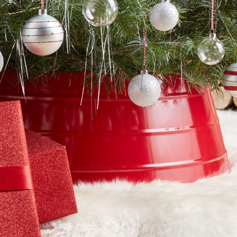 Glossy Red Tree Collar  Reviews  Crate and Barrel