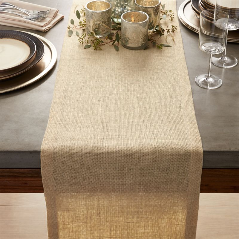 Gold Jute Table Runner 120  Crate and Barrel