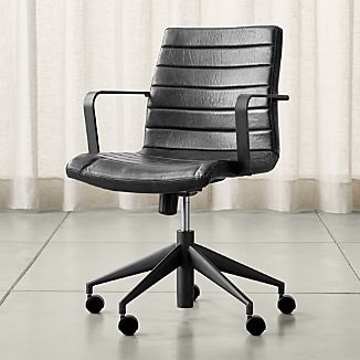adjustable desk chairs office chair heating pad crate and barrel graham black