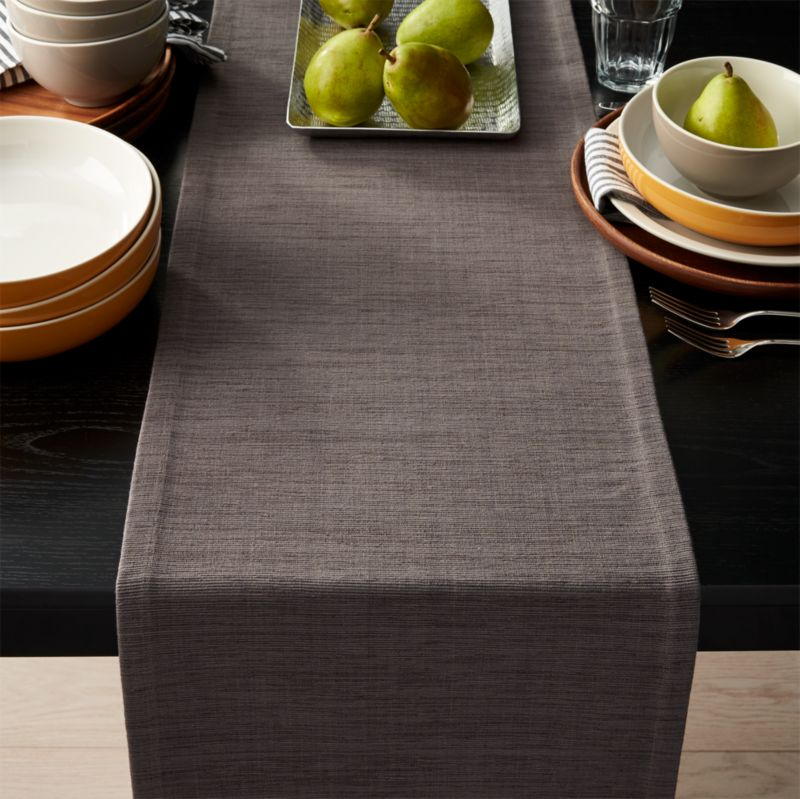 Grasscloth 90 Graphite Grey Table Runner  Reviews