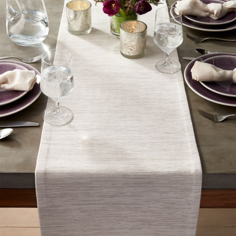 grasscloth white table runner