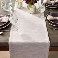 """Grasscloth 90"""" White Table Runner + Reviews 