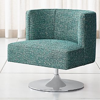 swivel club chair outdoor reclining lounge with ottoman living room chairs accent crate and barrel grayson