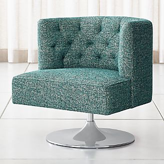 revolving chair accessories soft chairs for adults living room accent swivel crate and barrel grayson tufted