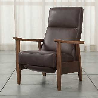 wood and leather chair hanging dubizzle living room chairs accent swivel crate barrel greer arm recliner