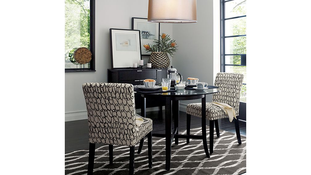 round glass kitchen table showrooms massachusetts halo ebony dining with 42 top reviews crate and barrel