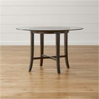 Halo Ebony Round Dining Tables with Glass Top | Crate and ...