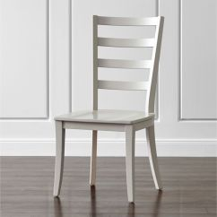 Ladder Back Dining Chairs European Chair Covers Harper Dove Grey Reviews Crate And Barrel
