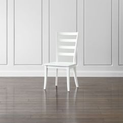Ladderback Dining Chairs Faux Fur Saucer Chair Harper White Ladder Back Reviews Crate And Barrel