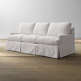slipcovers for sofa beds kleines fur jugendzimmer crate and barrel hathaway slipcovered queen sleeper