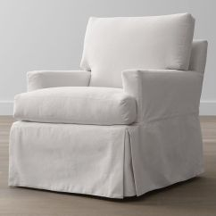 Slipcovers For Barrel Chairs White Cross Back Dining Hathaway Slipcovered Chair   Crate And