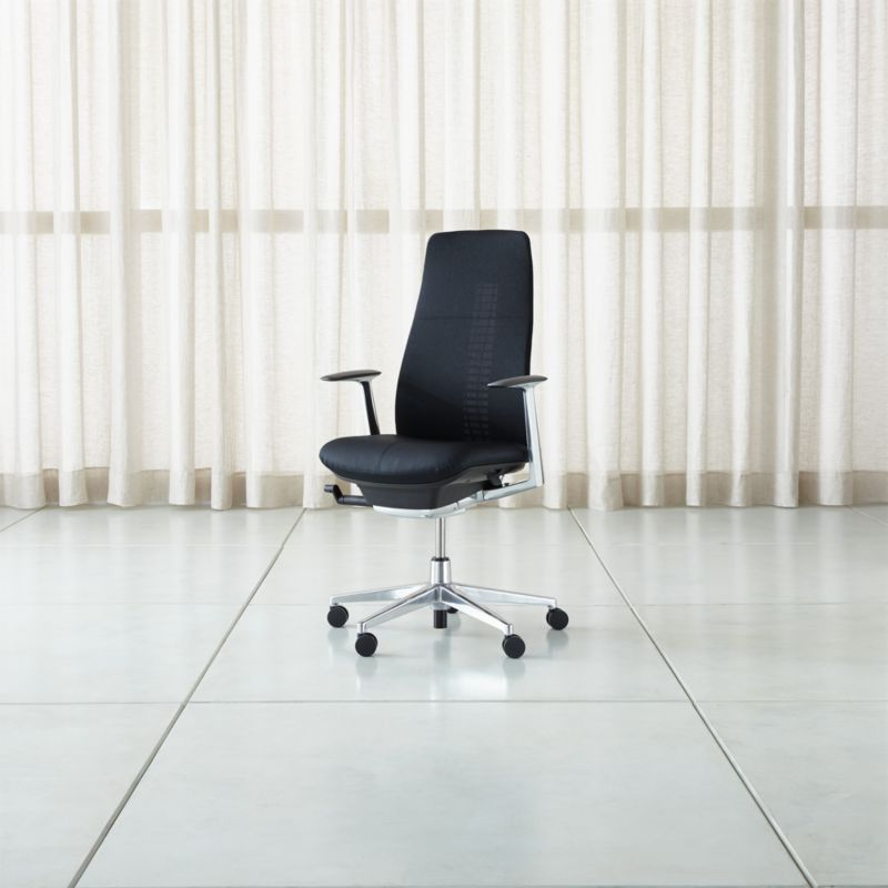 Haworth Black Fern Task Chair  Reviews  Crate and Barrel