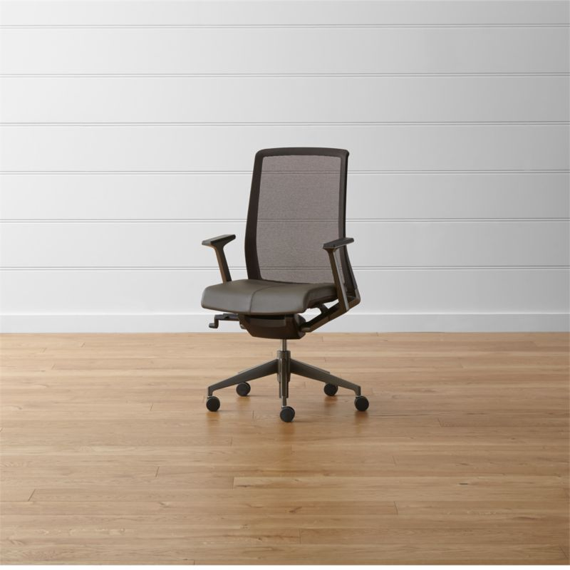 ergonomic chair dimensions graco high replacement parts haworth very task + reviews | crate and barrel
