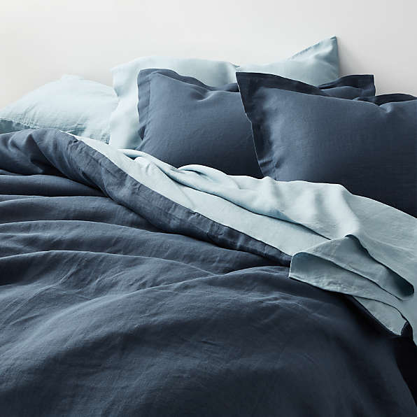 blue duvet covers crate and barrel