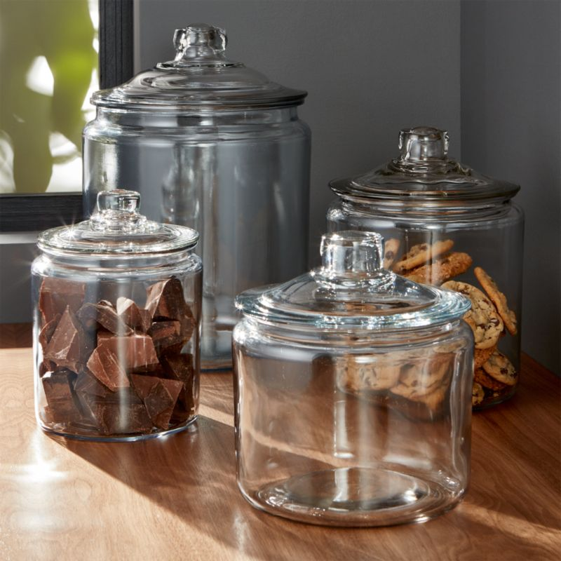 Heritage Hill Glass Jars with Lids  Crate and Barrel