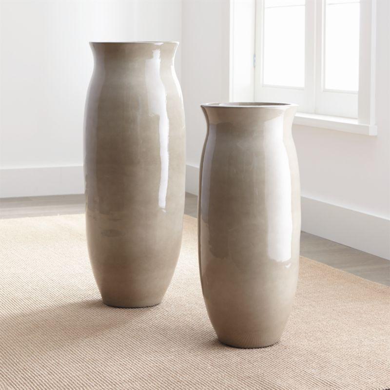 Hewett Ceramic Floor Vases Crate And Barrel