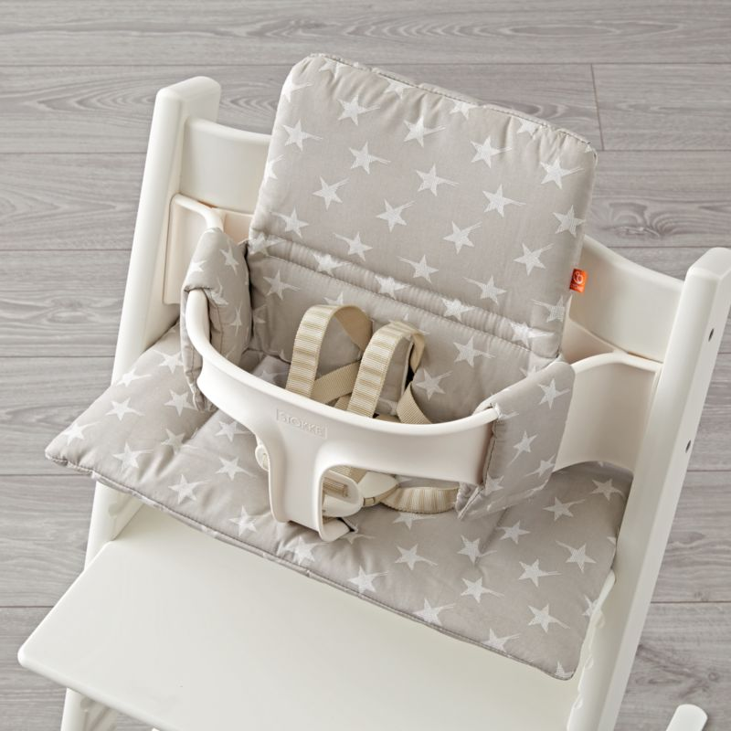 grey chair cushions covers and bows coedcae lane star stokke high cushion reviews crate barrel tripp trapp stars