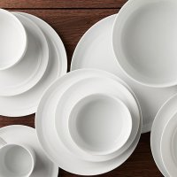 Hue White Dinnerware | Crate and Barrel