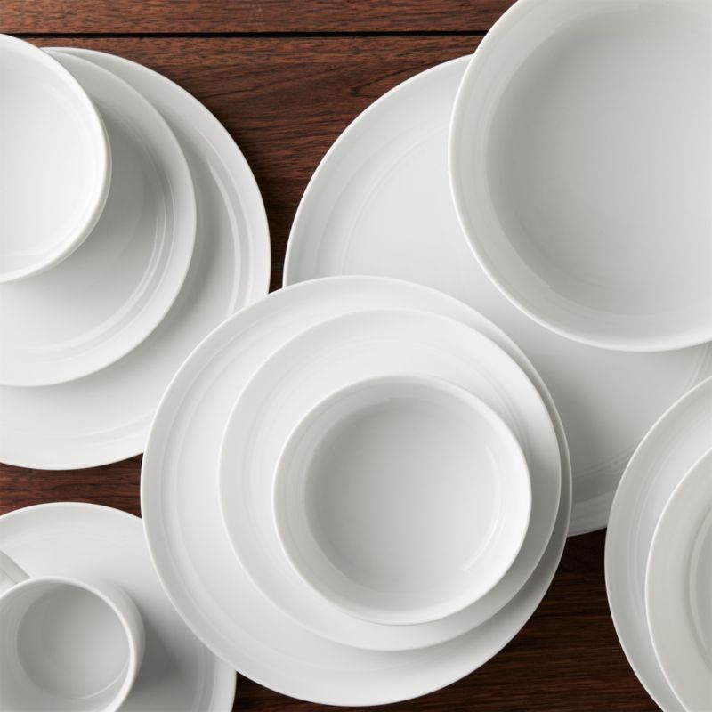 Hue White Dinnerware  Crate and Barrel