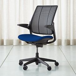 Blue Office Chair Staples Osgood Home Chairs Swivel Casters Leather More Crate And Barrel Humanscale Thalo Smart Ocean Task