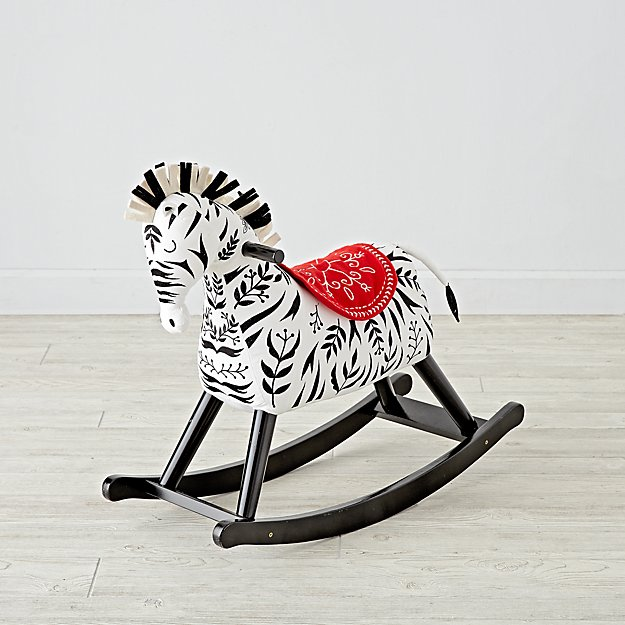 animal rocking chair hickory co zebra horse for toddlers reviews crate and barrel