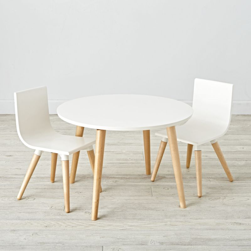 white table chairs exercise using chair toddler play and set reviews crate barrel
