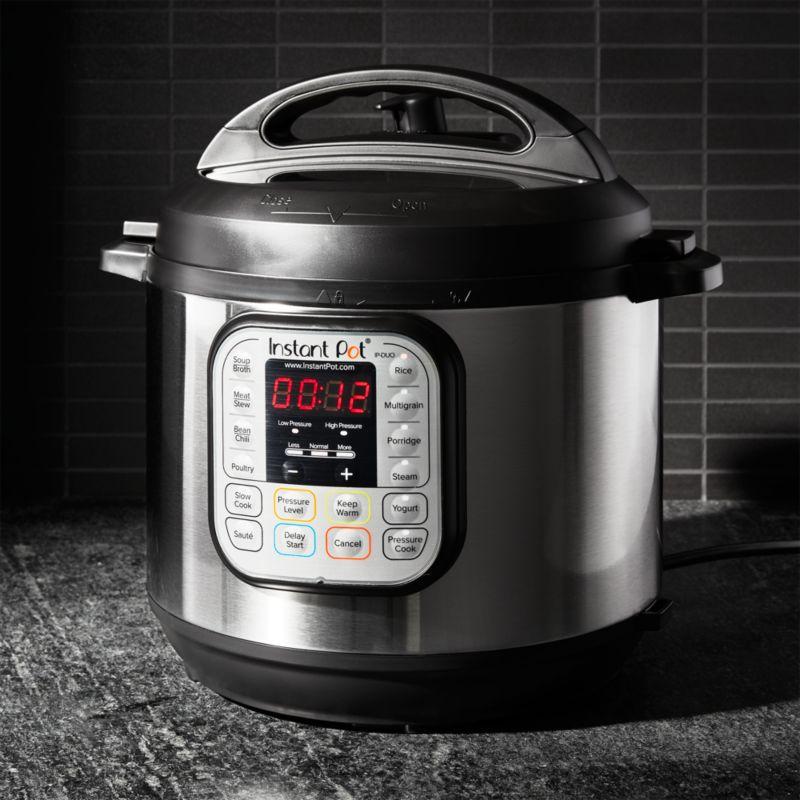 Instant Pot Duo60 6 Qt Electric Pressure Cooker Reviews Crate And Barrel