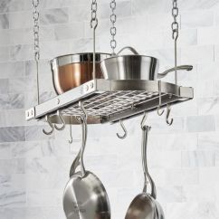 Kitchen Pot Rack Appliance Cabinet Racks Hanging Wall Mounted Stand Crate And Barrel